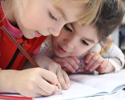 children-cute-drawing-friends